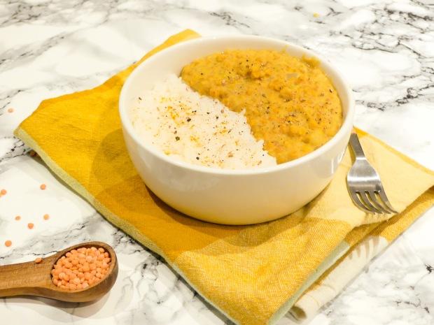 Dahl de lentilles corail lait de coco (1)