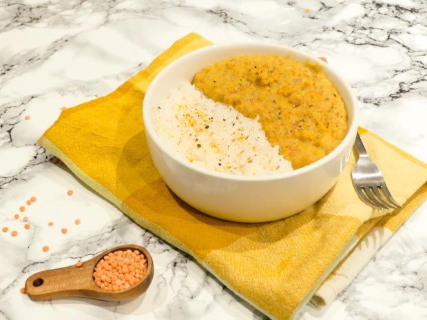 Dahl de lentilles corail lait de coco (3)
