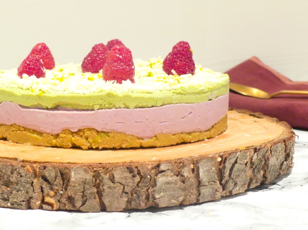 Cheesecake vegan framboise matcha (3)