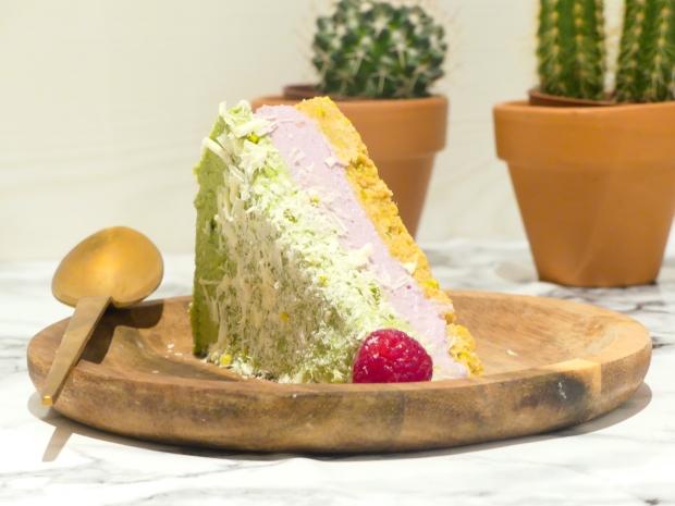 Cheesecake vegan framboise matcha (8)