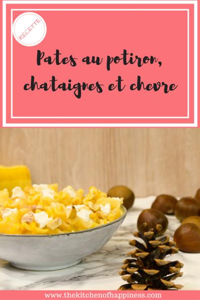Pates au potiron, chataignes et chevre (1)